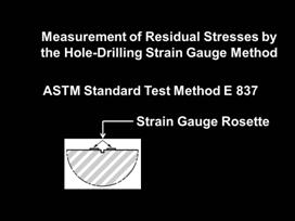 measurement of residual stressed